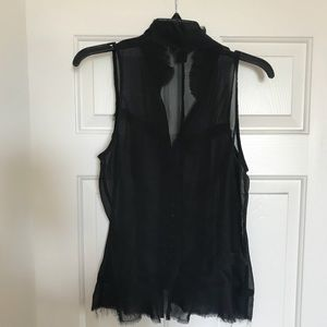Guess see-thru sleeveless blouse